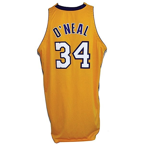 15: 2000-01/02 Shaquille O'Neal Lakers Game-Used Jersey