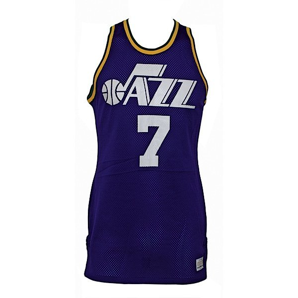 "17: Ca 77 ""Pistol"" Pete Maravich Jazz Game-Used Jersey"