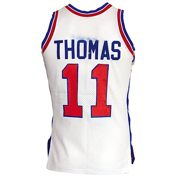 21: Ca 1984 Isiah Thomas Pistons Game-Used Jersey
