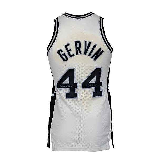 25: Ca 1977 George Gervin Spurs Game-Used Jersey