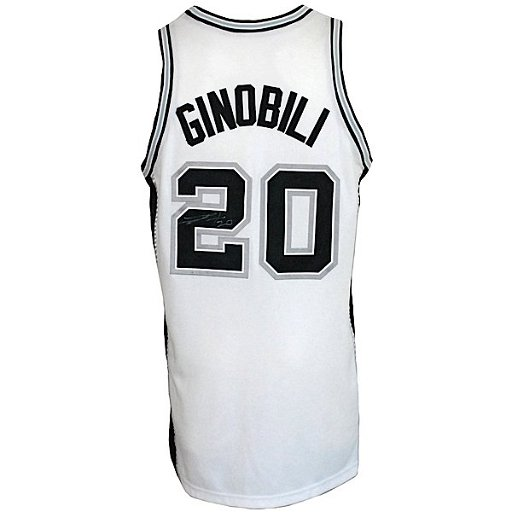 buy popular 9f551 15e0d 83: 2004-2005 Manu Ginobili Spurs Game-Used Jersey