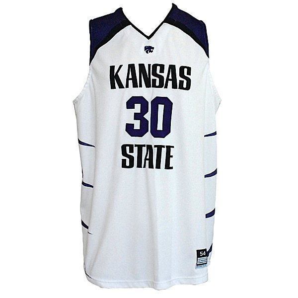 164: 06-07 Michael Beasley K State Game-Used Jersey - 2