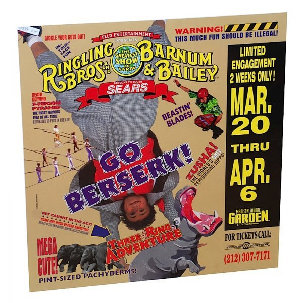 3: Lot of Ringling Brothers and Barnum & Bailey Posters