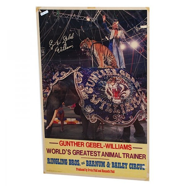 4: Lot of Gunther Gebel-Williams Circus Posters (2)