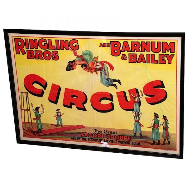 8: 1932 Ringling Brothers Yacopi Troupe Circus Poster