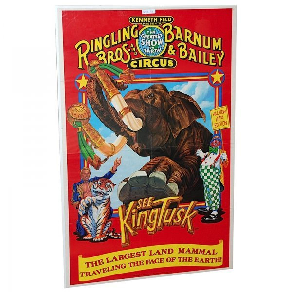 9: Lot of Ringling Brothers Circus Posters (8)