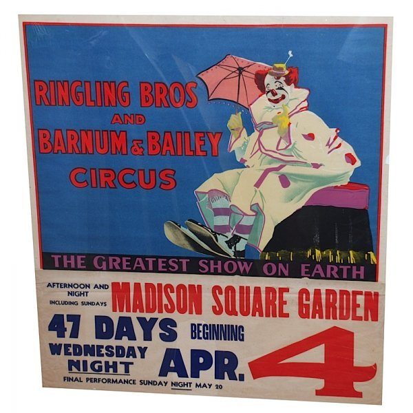 13: Lot of Ringling Brothers Circus Posters (2)