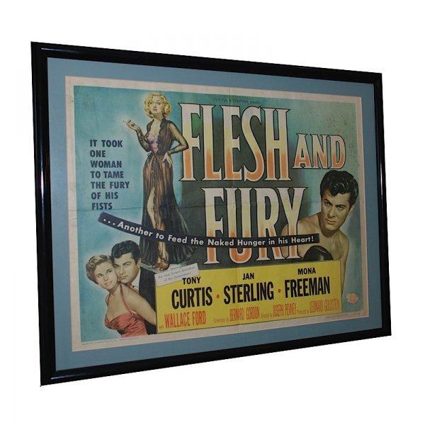21: 1952 Framed Flesh And Fury One Sheet