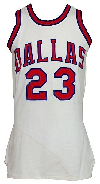 1972-1973 Larry Jones ABA Dallas Chapparals Game-Used H