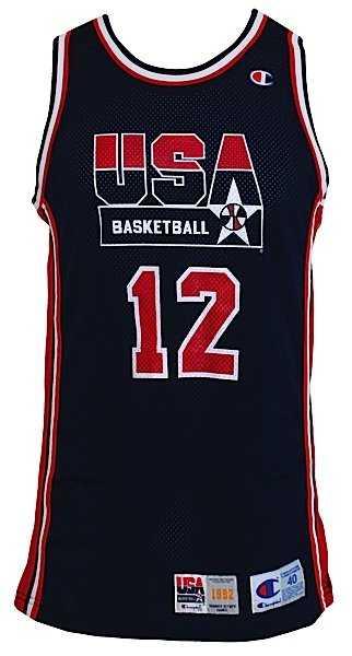 22236b805702 1992 John Stockton USA Olympic Dream Team Game-Used Roa