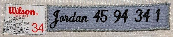 1994 Michael Jordan Scottsdale Scorpions Game-Used Comp - 7