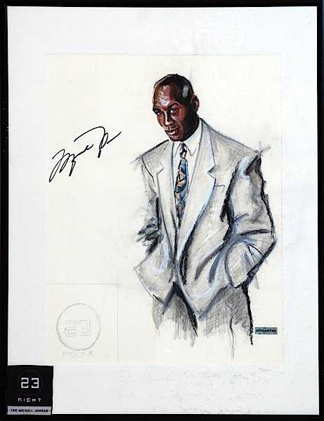 Framed Michael Jordan Bigsby & Kruthers One-of-a-Kind A