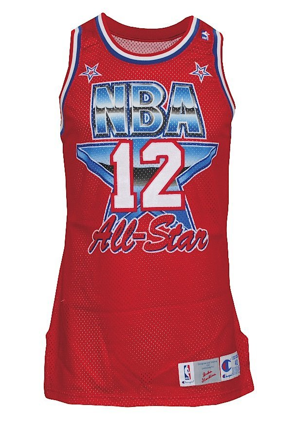 4: 1991 John Stockton NBA All-Star Game-Used Western Co