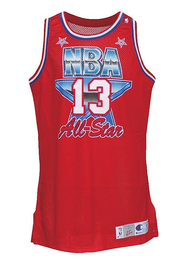 5: 1991 Karl Malone NBA All-Star Game-Used Western Conf