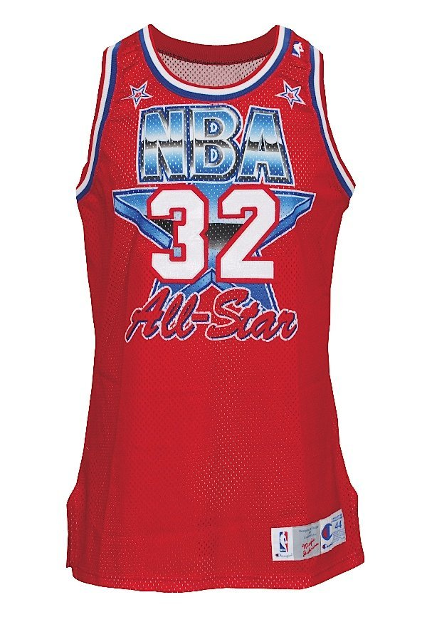 "8: 1991 Earvin ""Magic"" Johnson NBA All-Star Game-Used W"