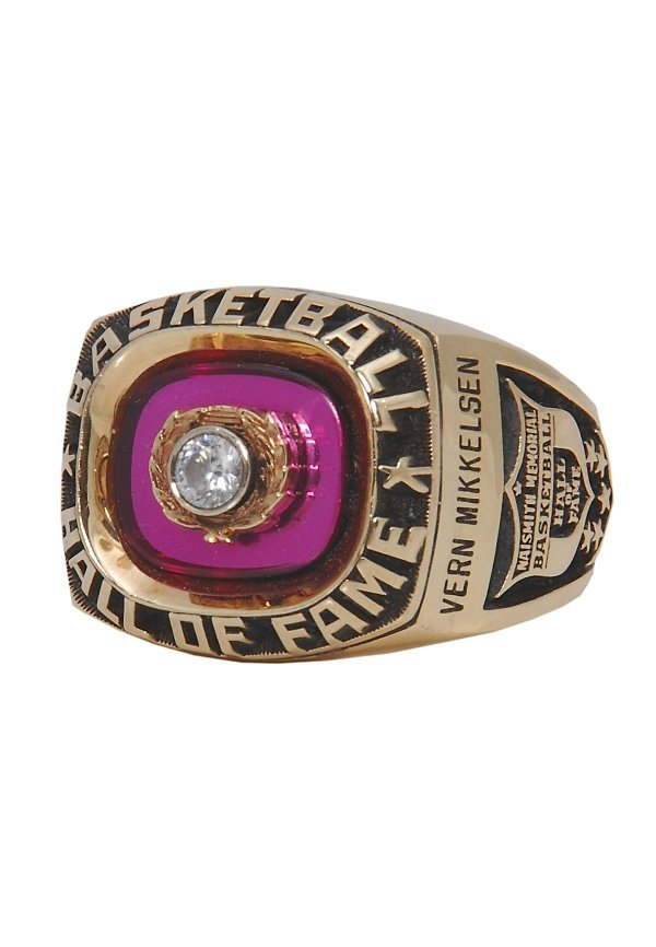 19: 1995 Vern Mikkelsen Hall of Fame Induction Ring (Mi