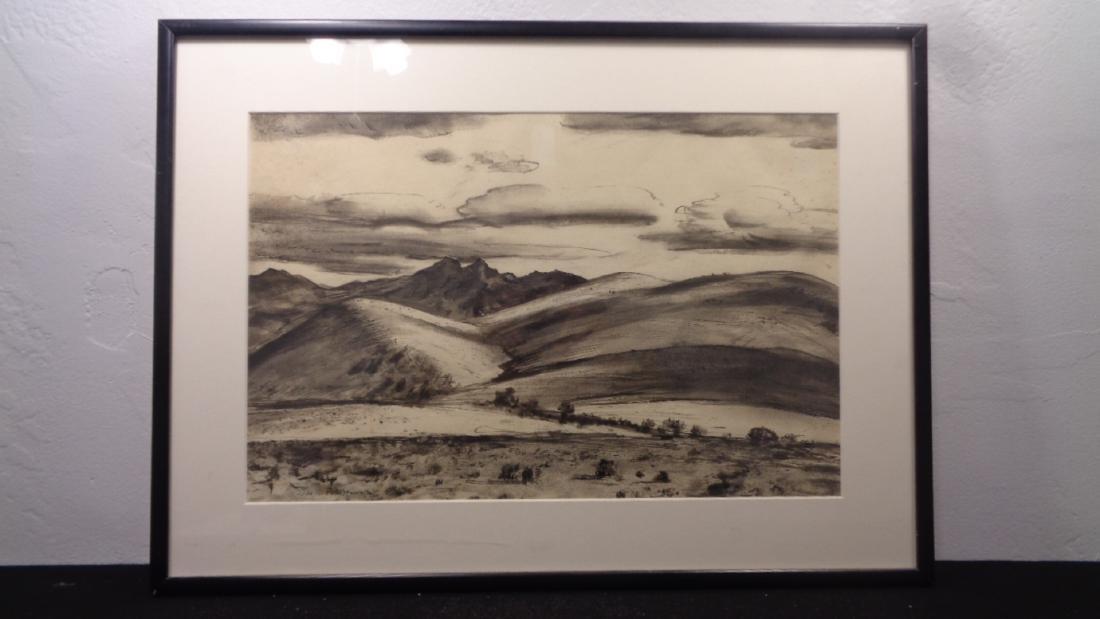 Original Peter Hurd, Winter Weather CA 1935, Ink