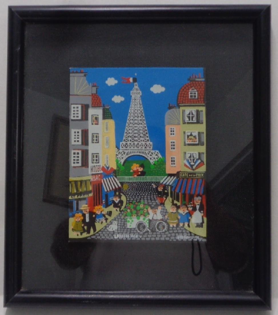 Original Paris Painting on Canvas Board by Laurence