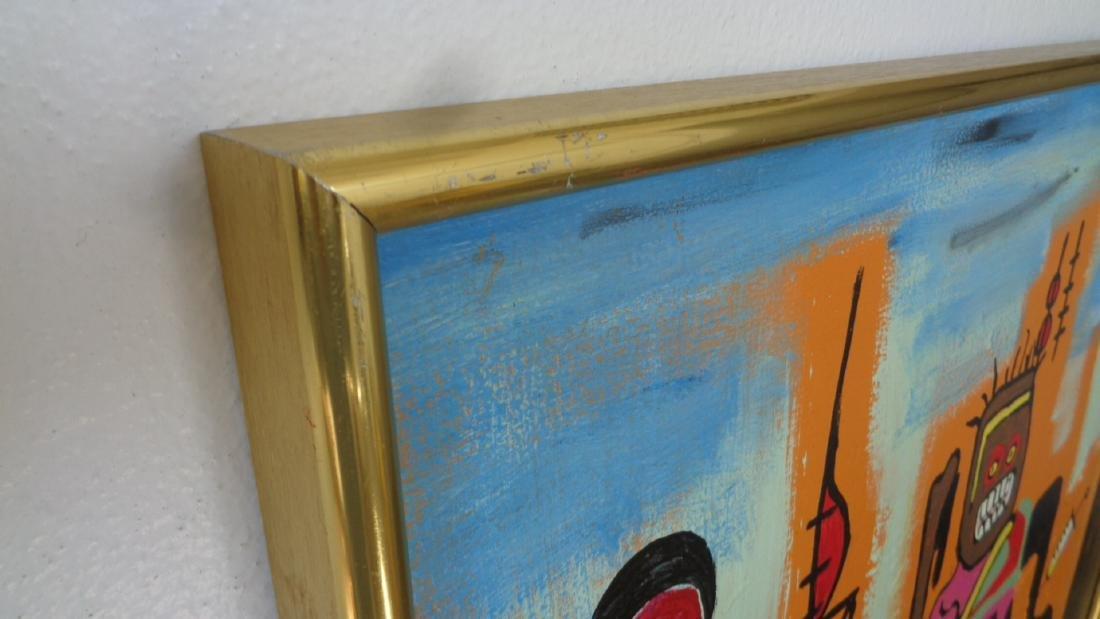 Large Contemporary Modern Original Fine Art Painting on - 5
