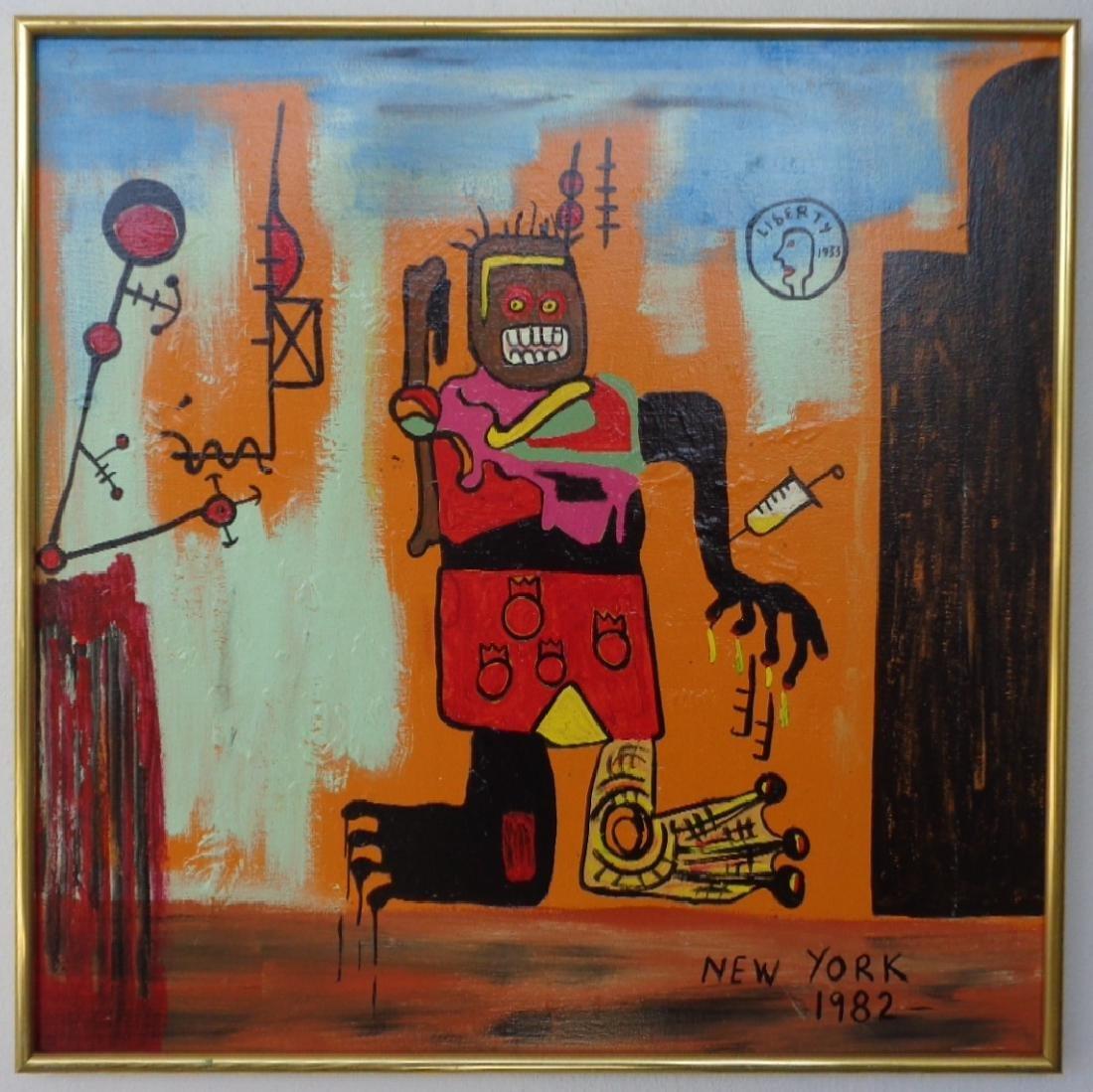Large Contemporary Modern Original Fine Art Painting on - 8