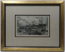 Kent Hagerman18931978Florida Artist Etching Pencil