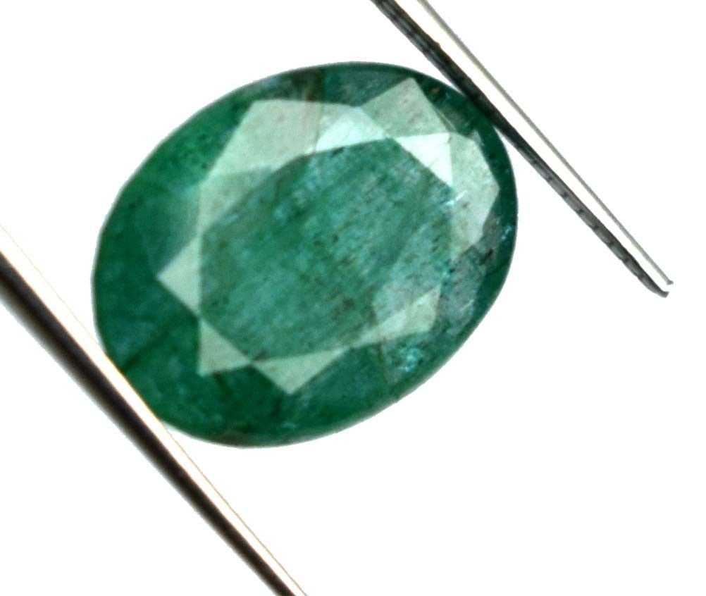 IGL Certified 4.85 Ct. Natural Oval Colombia Emerald
