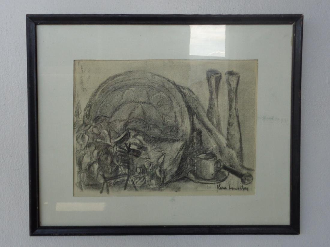 Original charcoal Drawing 1963 by Vern Livingston