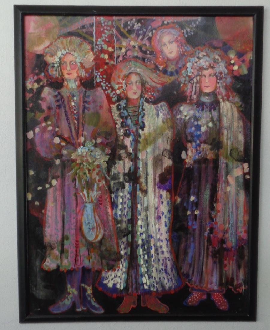 """Original Norma Malevich Oil Painting """"The Left Side"""