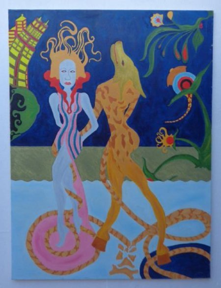 Large Original Surreal Oil Painting Signed