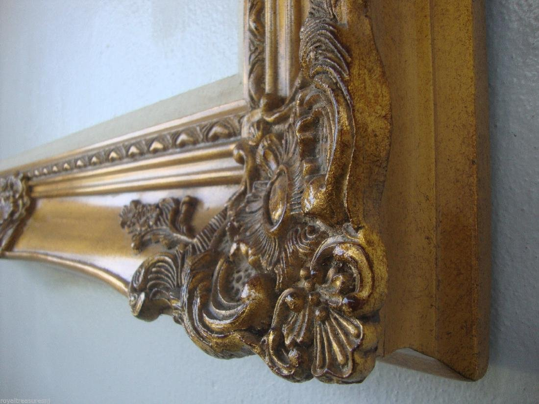 """Wood Picture Frame Ornate Antique Gold 36"""" x 48"""""""