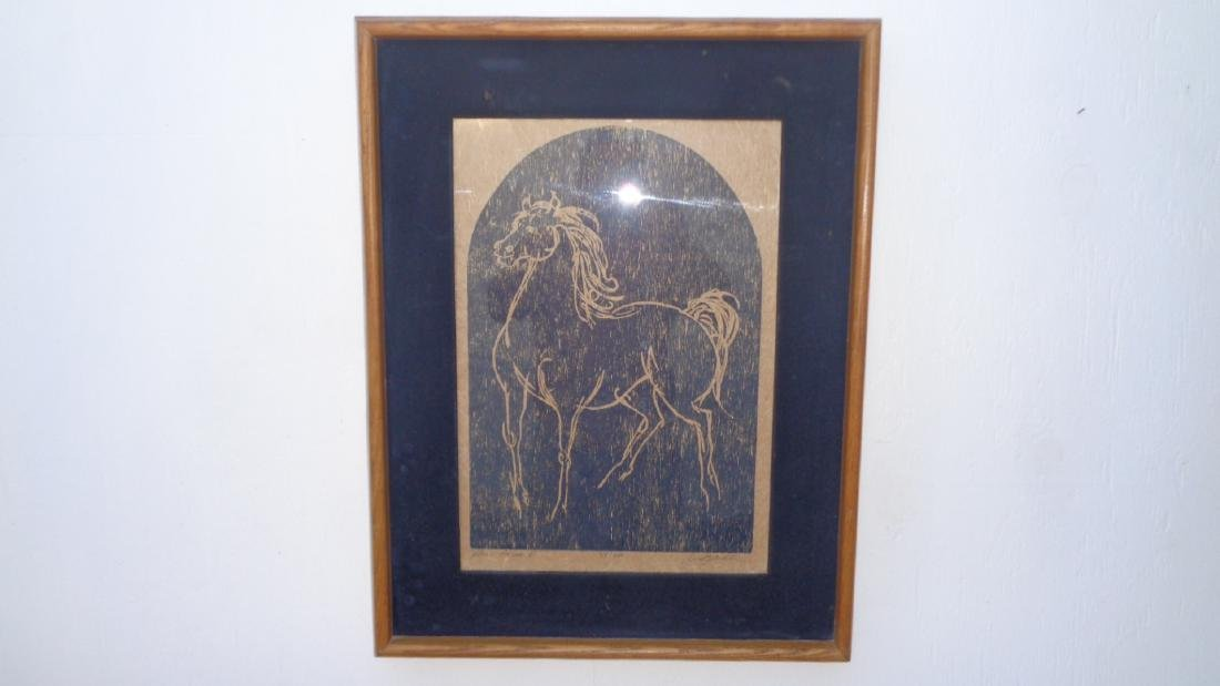 Black Horse Original signed Limited Edition woodcut