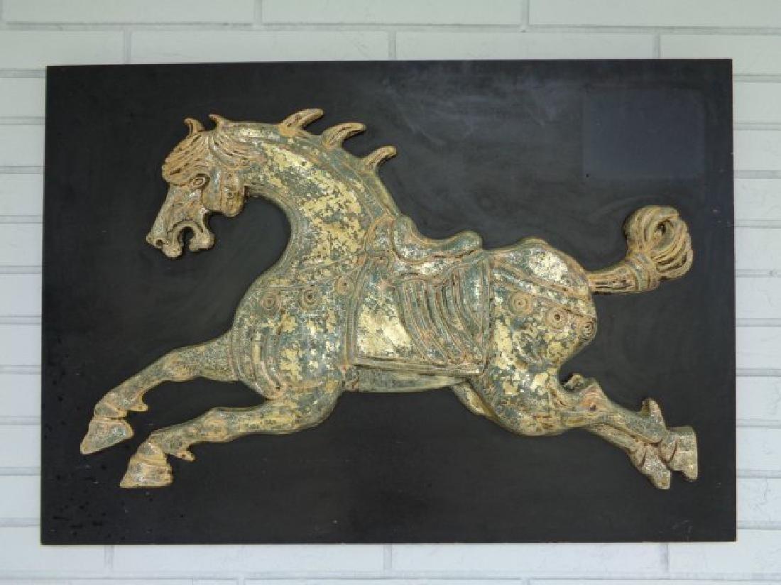 Large Vintage Mid-Century Fiberglass horse /Running 3D