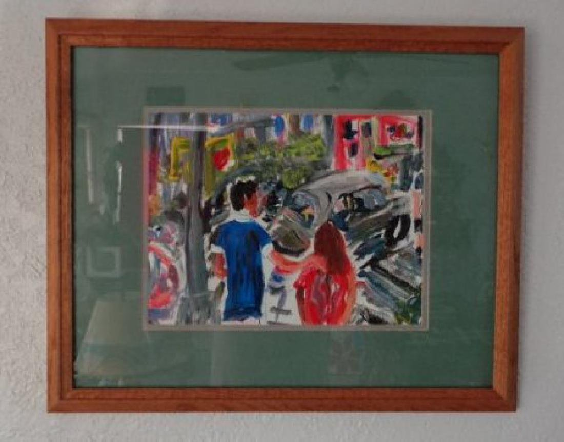 N York Impressionism Plain Air, Acrylic on Paper, Windo