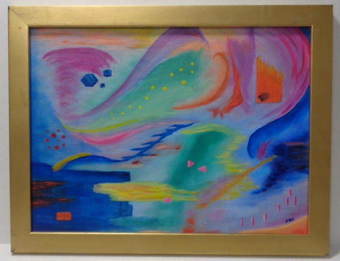 Original Abstract Surreal Oil Painting on Canvas Board