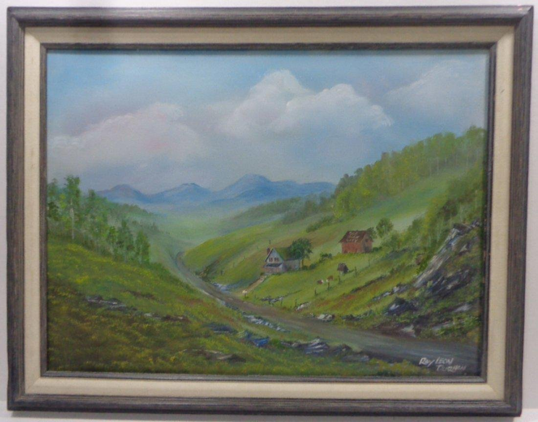 Original Signed Roy Leon Durhan Farm House Painting