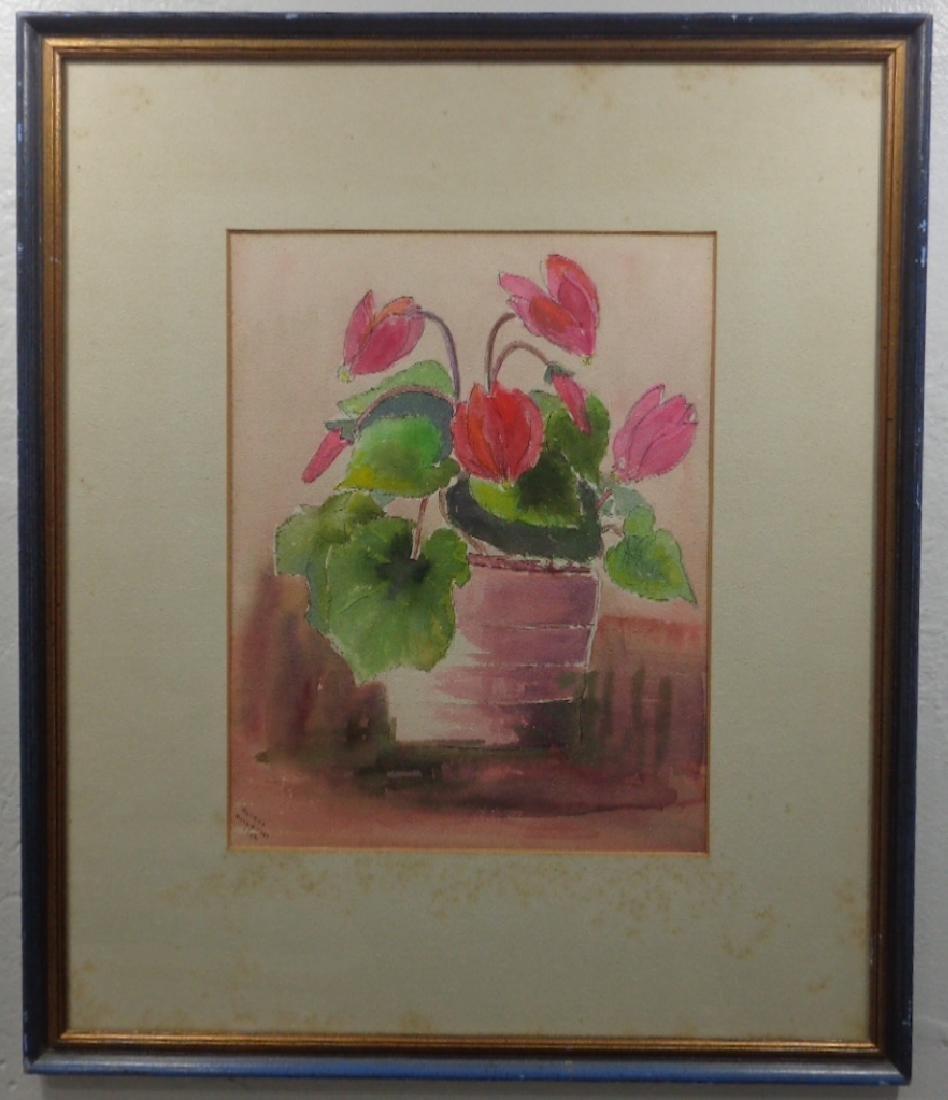 Original Midcentury Watercolor Painting
