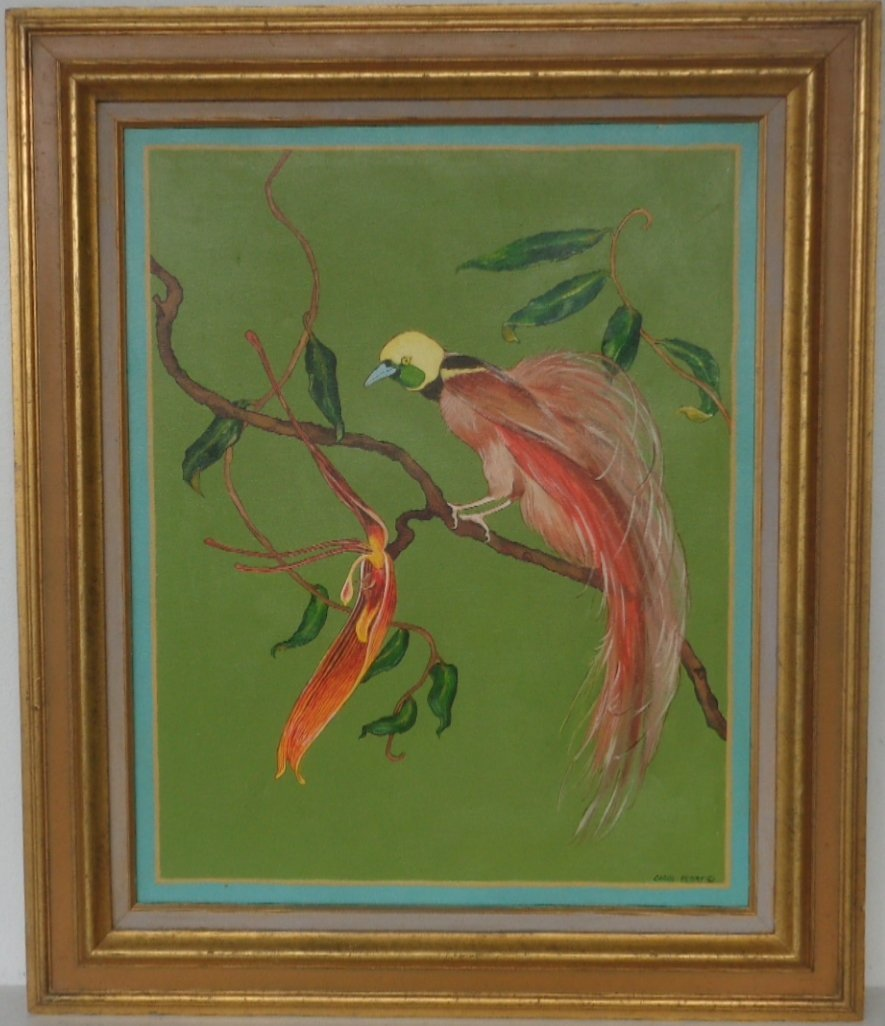 Original Vintage Carol Perry Oil Painting on Canvas