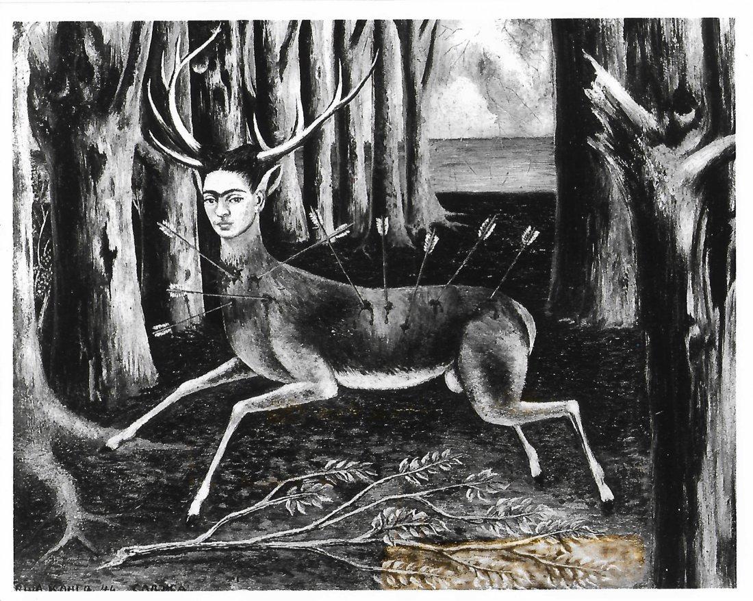 "1993 Press Photo Artist Frida Kahlo's ""The Little Deer"""