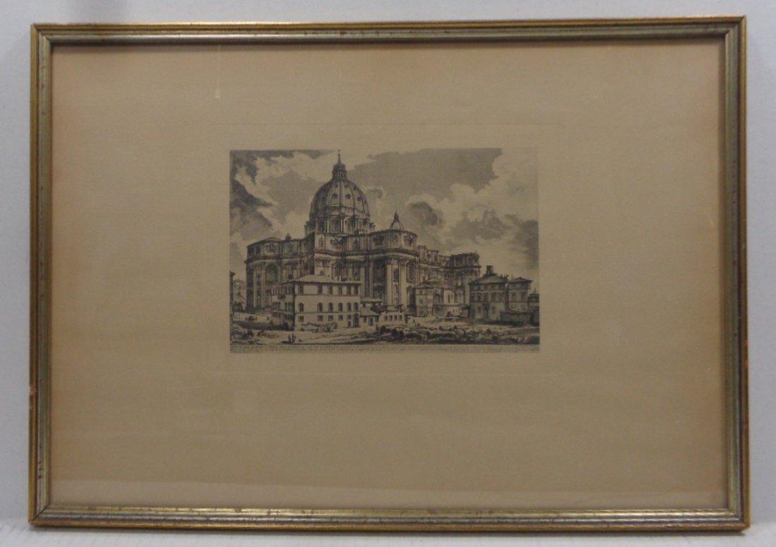 OriginalInk Engraving Basilica Di ST Pietro in Vaticano