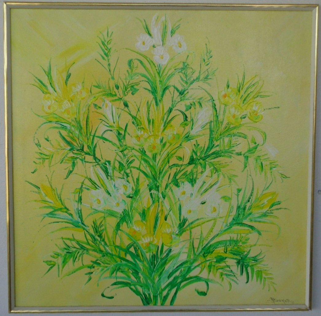 Mid Century Original Oil On Canvas Allen Boucher