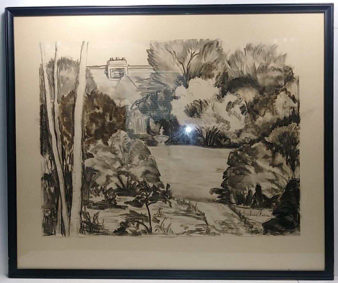 Landscape Pencil Drawing-Studio Signed