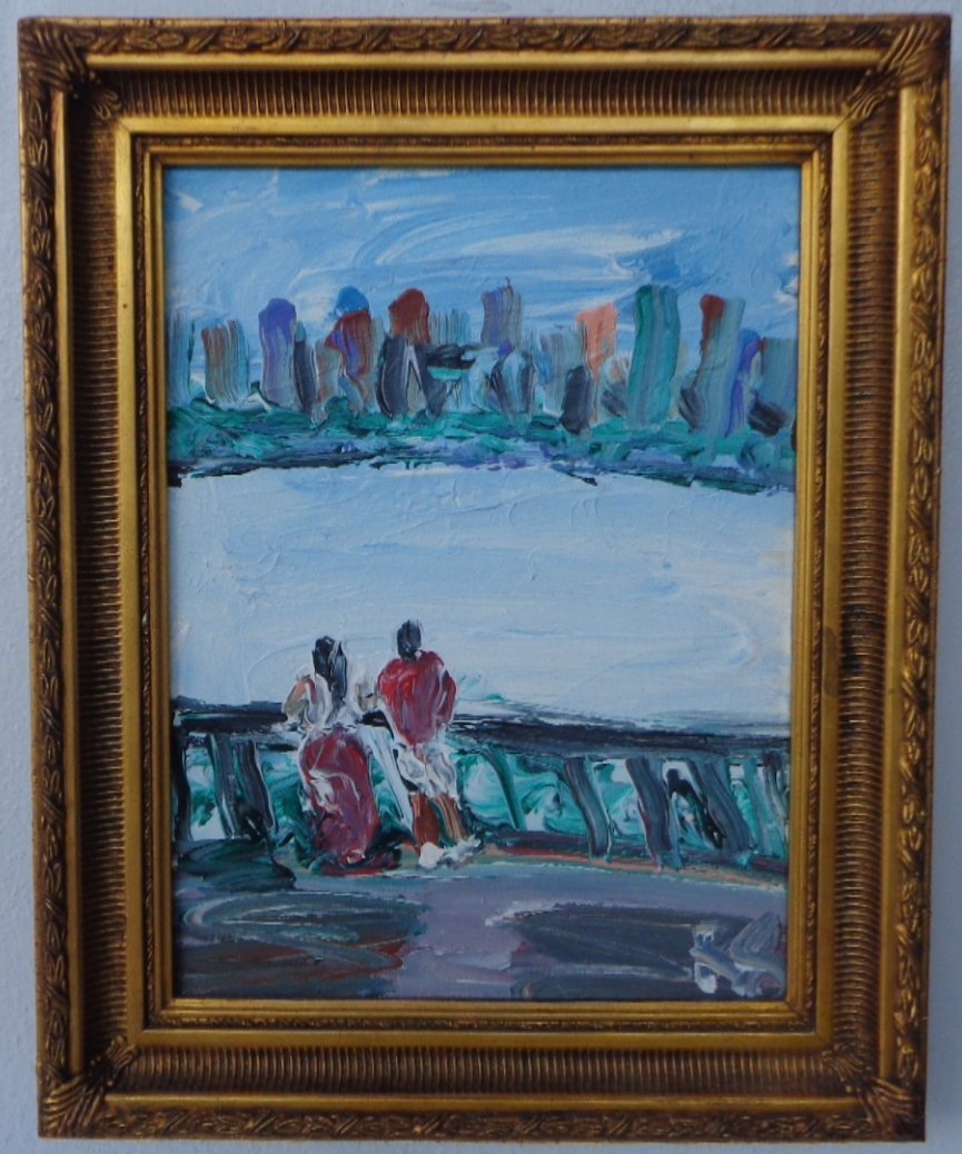 Original A Long the Hudson N York  Plain Air Painting