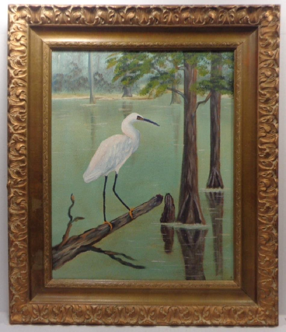 Original St Lucie River FL Oil Painting Signed Sam
