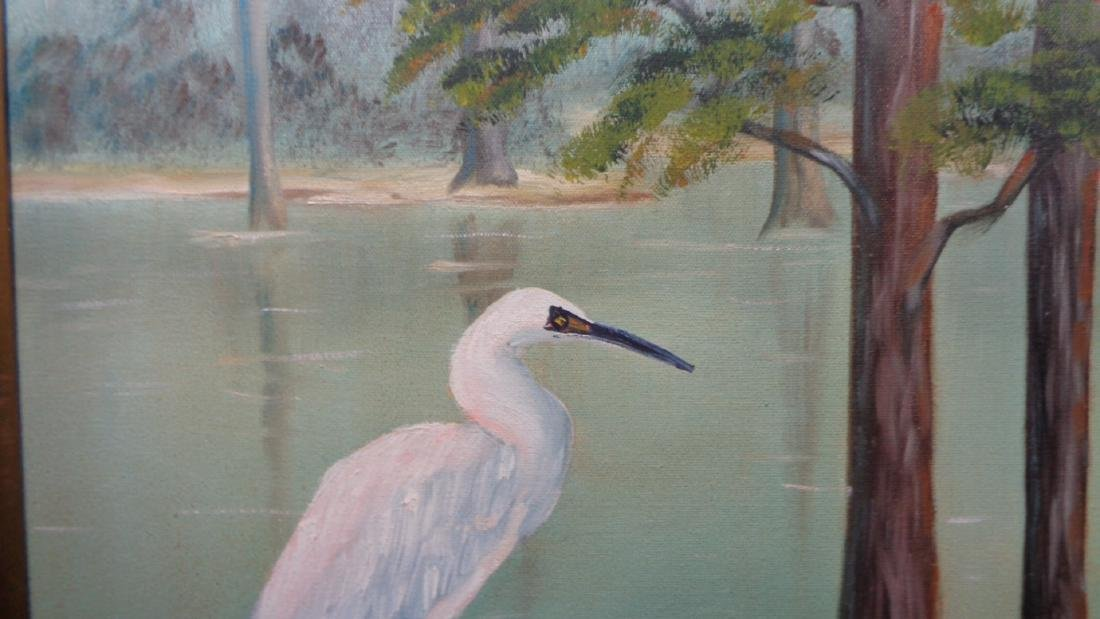 Original St Lucie River FL Oil Painting Signed Sam - 2