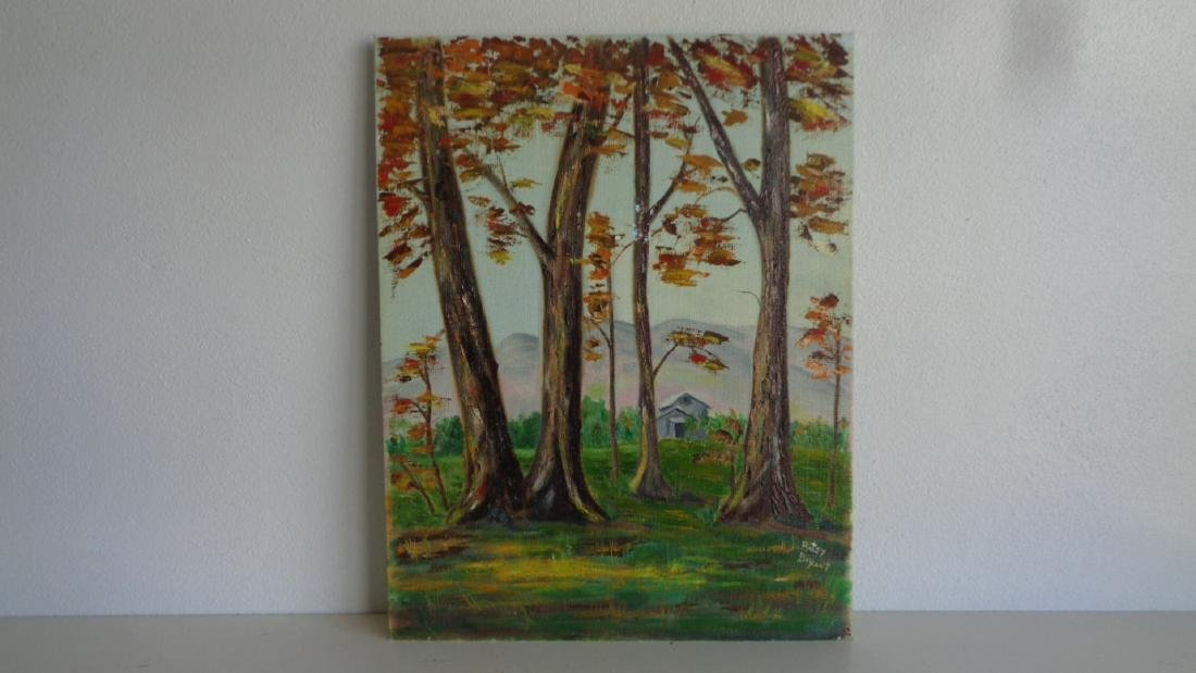 Original Oil on Canvas Board- signed- T