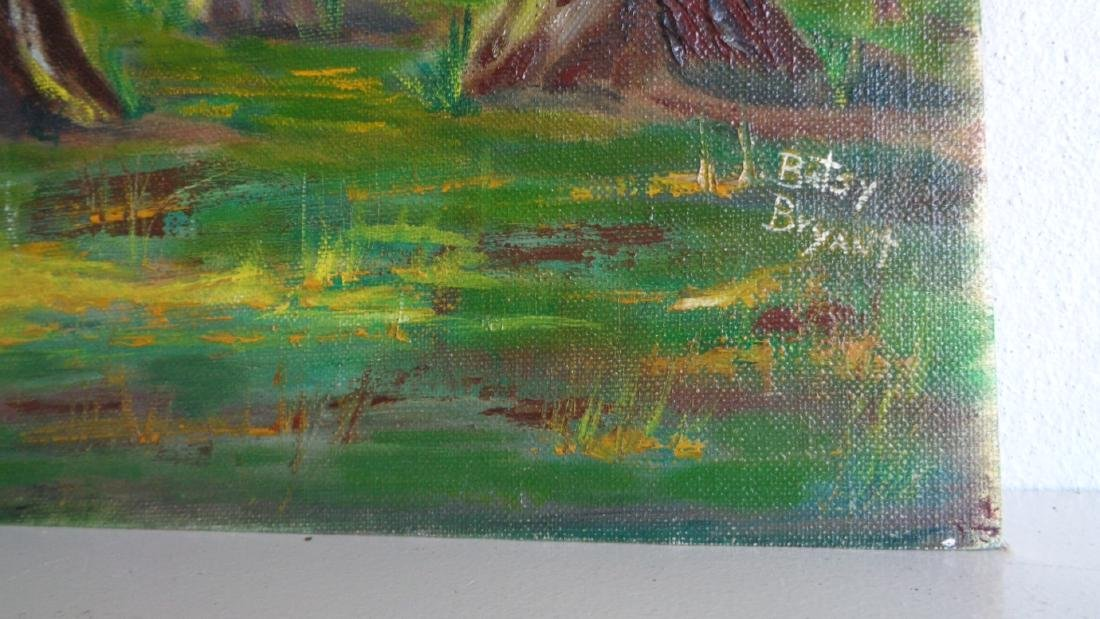 Original Oil on Canvas Board- signed- T - 2