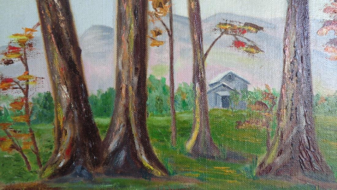 Original Oil on Canvas Board- signed- T - 4