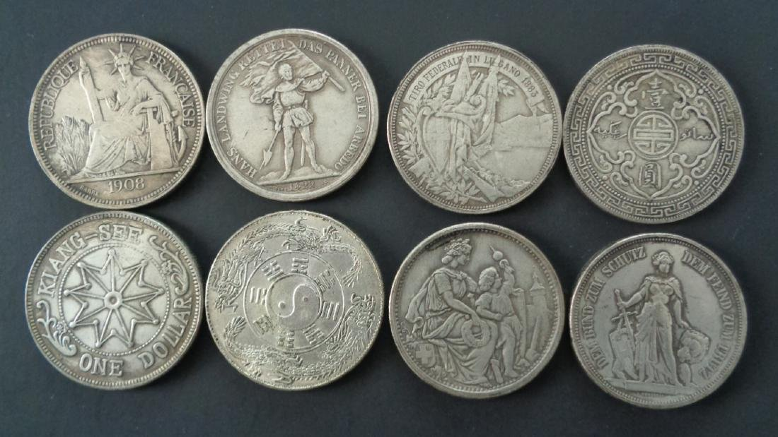 Lot of 8 Foreign Coins.