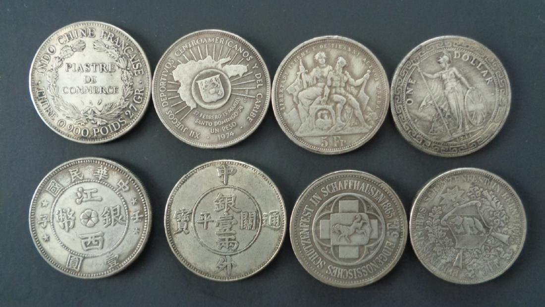 Lot of 8 Foreign Coins. - 2