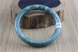 Certificated Natural Green Jade HandCarved Bracelet